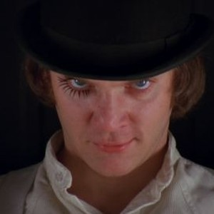 Malcom McDowell as Alex in A Clockwork Orange.